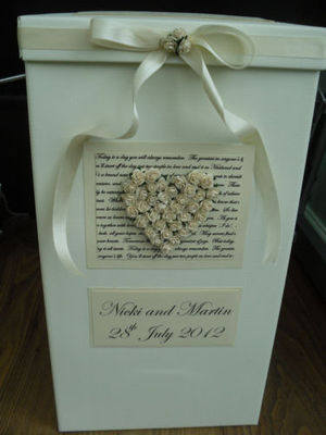 Large Rose Wedding Post Box
