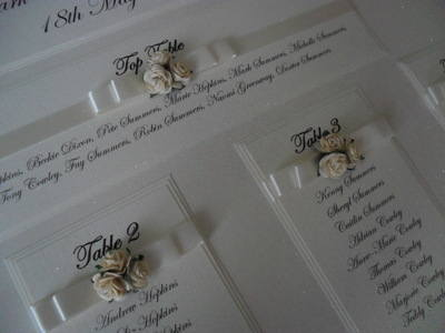 A2 Rose Cluster Wedding Seating Plan