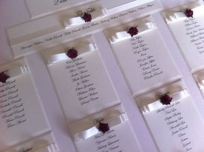 A2 Rose Wedding Seating Plan