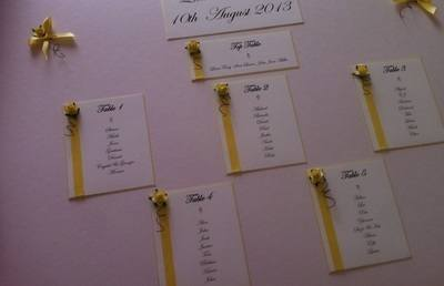 A2 Rose & Diamante Wedding Seating Plan