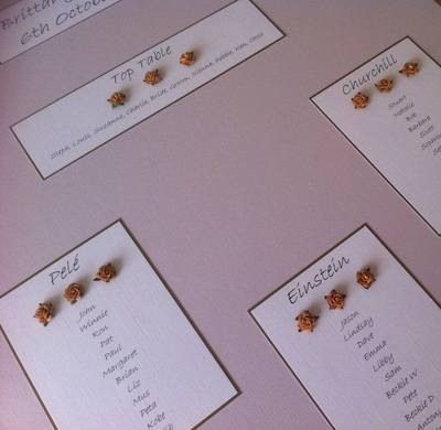 A2 Roses Wedding Seating Plan