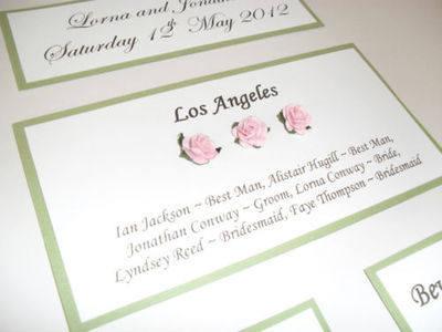 A3 Roses Wedding Seating Plan