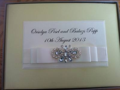 Large Diamante Butterfly Guest Book