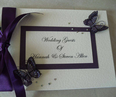 3D Butterfly Wedding Guest Book