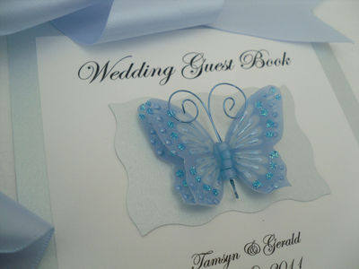 Wedding Guest Book 3D Butterfly
