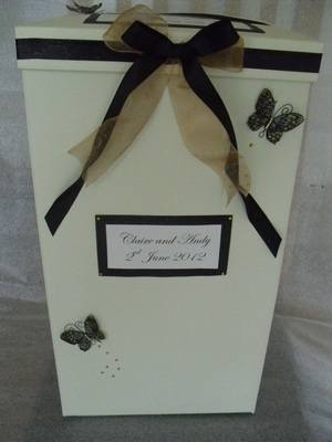 3d Butterfly Large Post Box
