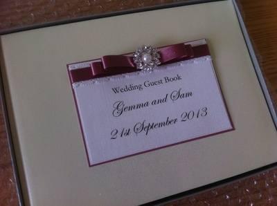 Vintage Pearl Wedding Guest Book