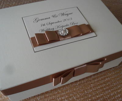 Vintage Pearl & Diamante Keepsake Box