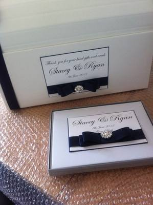 Vintage Pearl & Diamante Wedding Chest & Guest Book