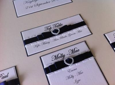 A2 Vintage Style Lace & Pearls Seating Plan