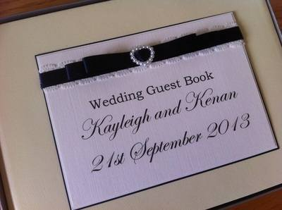 Vintage Lace Wedding Guest Book