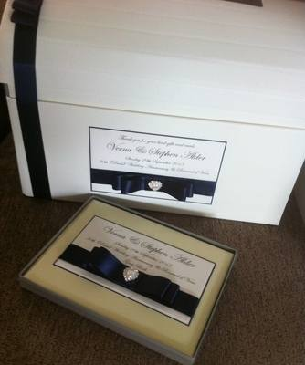 Diamante Heart Wedding Chest & Guest Book
