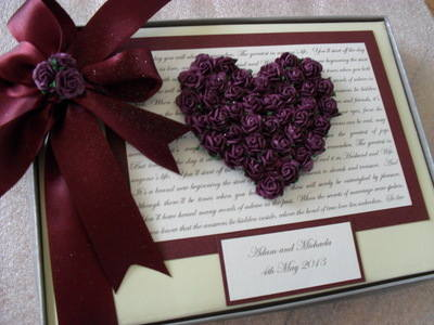Rose Heart Wedding Guest Book