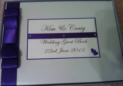 Double Heart Wedding Guest Book