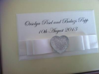 Large Glitter Heart Wedding Guest Book