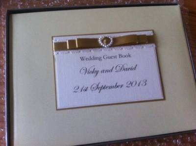 Pearl Heart Wedding Guest Book