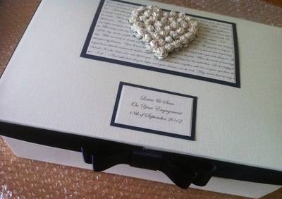 Rose Heart Wedding Keepsake Box