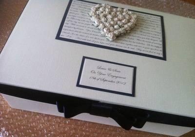 Rose Heart Wedding Keepsake Box
