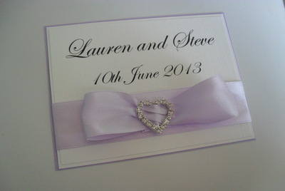 Diamante Heart Buckle Wedding Photo Album