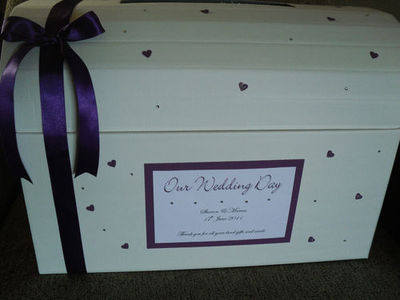 Scattered Heart Wedding Chest