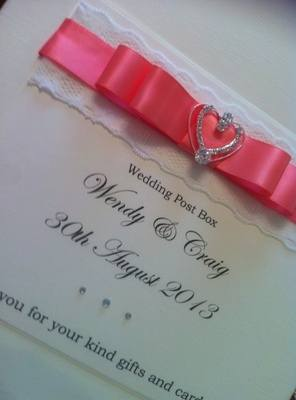 Diamante Heart Wedding Chest