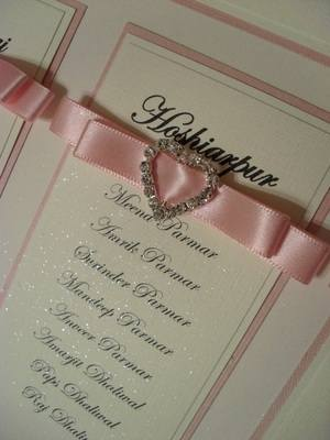 A2 Diamante Heart Wedding Table Plan