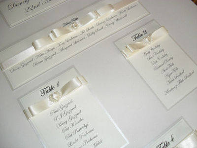 A3 Pearl Heart Wedding Table Plan