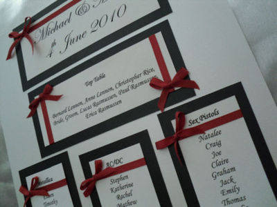 A3 Timeless Wedding Seating Plan