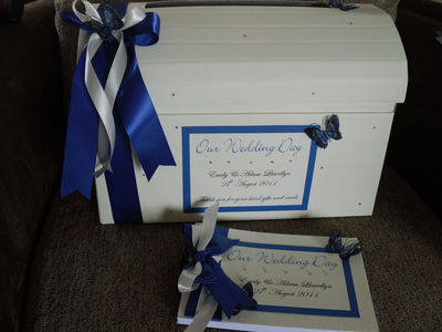3d Butterfly Wedding Chest & Post Box