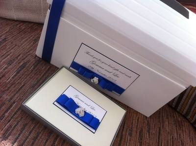 Rose Cluster Wedding Post Box & Guest Book