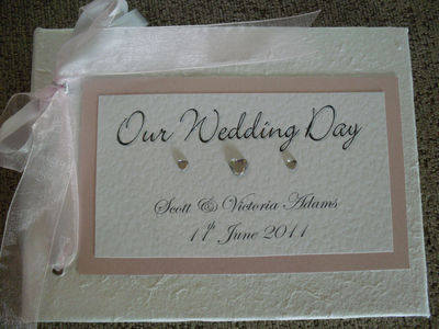 Diamante Heart Stone Wedding Guest Book