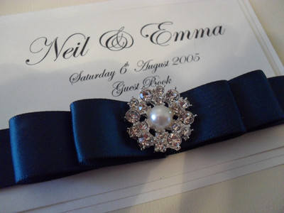 Pearl & Diamante Cluster Wedding Guest Book