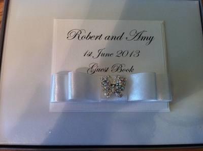 Diamante Butterfly Wedding Guest Book