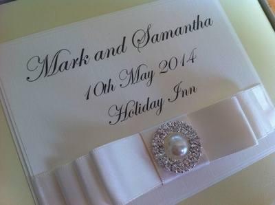 Pearl & Diamante Wedding Guest Book