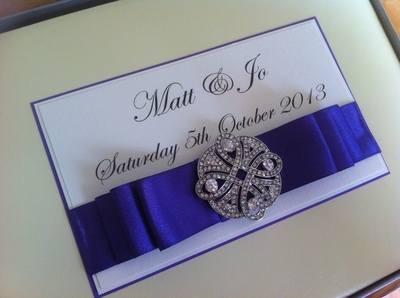 Diamante Celtic Knot Wedding Guest Book