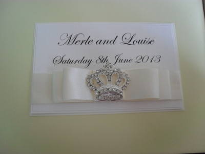 Diamante Tiara Wedding Guest Book