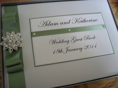 Large Diamante Cluster Wedding Guest Book