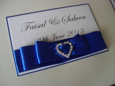 Diamante Heart Buckle Wedding Guest Book