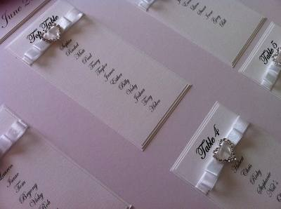 A2 Diamante Heart Buckle Seating Plan