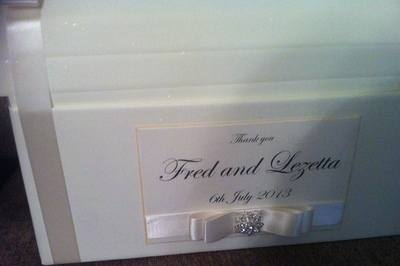 Large Diamante Cluster Wedding Chest Post Box