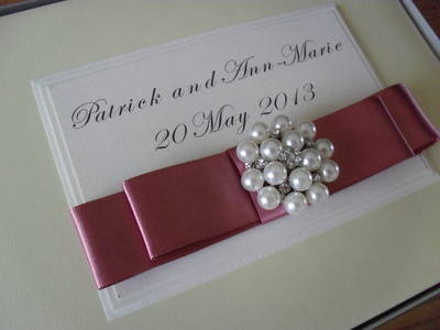 Large Diamante & Pearl Cluster Photo Album