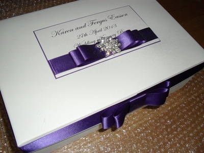 Large Diamante Cluster Keepsake Box