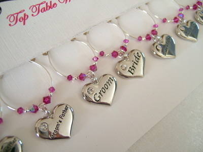Wedding Wine Charms Top Table Set