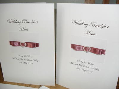 Pearl Heart Buckle Wedding Menu