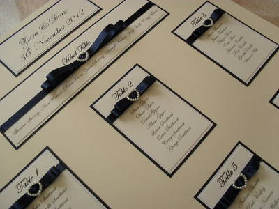 A3 Pearl Heart Buckle Seating Plan