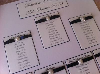 A3 Pearl & Diamante Seating Plan