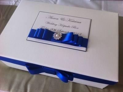 Pearl & Diamante Keepsake Box