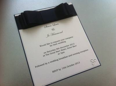 Chocolate Box Ribbon Invitations
