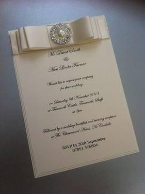 Luxury Pearl & Diamante Invitation