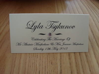 Diamante Place Card